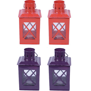 AnasaDecor Tealight Hut Candle Holder Lantern set4