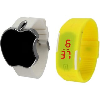 Elios Combo of Silicon Apple  Band LED Watches