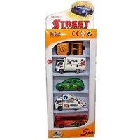 Street Machine Die Cast Model 5pc Vehicle Set