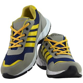 Elvace YellowBlueGrey Wiber Sports Men Shoes-8026