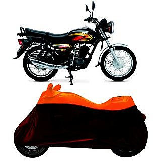 Superior Quality Bike Body Cover Black and yellow for TVS Max