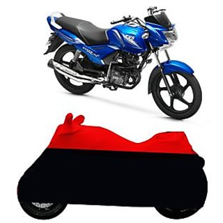 Superior Quality Bike Body Cover Red and Black for TVS Star City Plus