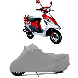 Superior Quality Bike Body Cover Silver Matte for TVS Scooty Pep
