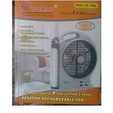 Soroo 8 inches Rechargeable Fan with Emergency Light