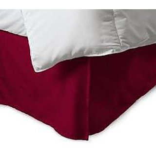 Super Soft And Elegant 1Pc Bed Skirt With 7 Drop Length 800 Thread Count Twinxl 100 Egyptian Cotton Burgundy Solid By Hothaat