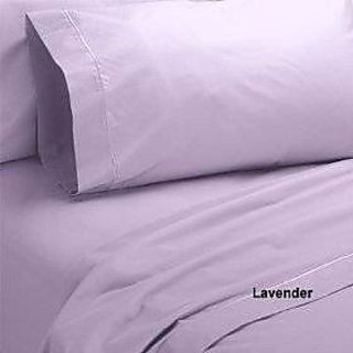 Super Soft And Elegant 4Pc Sheet Set 800 Thread Count Split Queen 100 Egyptian Cotton Lavender Solid By Hothaat