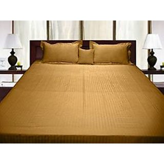 Super Soft And Elegant 5Pc Sheet Set With 17 Inch Customized Fitted Sheet And Cushion Cover 800 Thread Count Single 100 Pima Cotton Gold Stripe By Hothaat