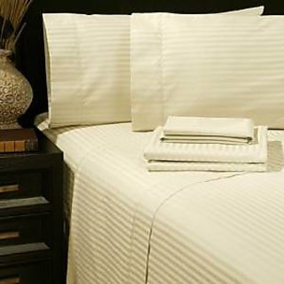Super Soft And Elegant 4Pc Sheet Set 800 Thread Count Olympic Quen 100 Organic Cotton Ivory Stripe By Hothaat