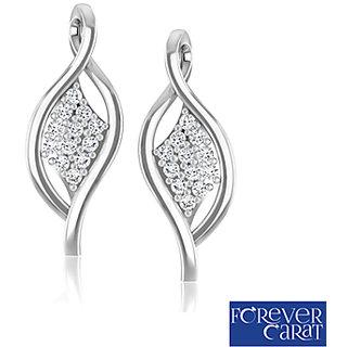 0.29ct Natural White Diamond Earrings 925 Sterling Silver Long Earrings ER-0103S