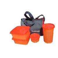 Lunch Box With 4 Pcs. Food Grade Containers And Insulated Bag : Carry To Office