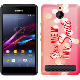 WOW Printed Back Cover Case for Sony Xperia E1