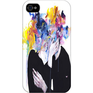 The Fappy Store Intimacy-On-Display Printed Back Cover For Iphone 4S