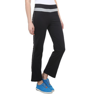 Vimal Black Cotton Blend Trackpant For Women (F2BLACK01)