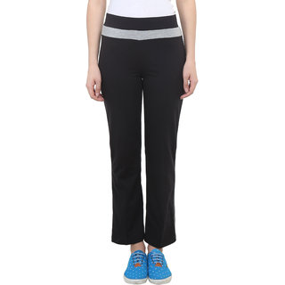 Vimal Black Cotton Blend Trackpant For Women ( Pack Of 2) (F2BLACK-F3BLACK-02)