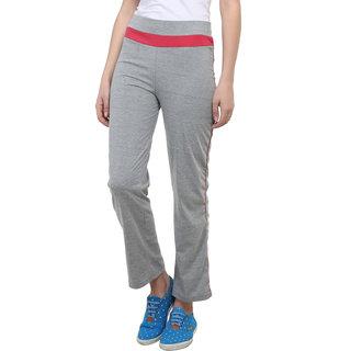 Vimal Grey Melange Cotton Blend Trackpant For Women (F2MELANGE01)