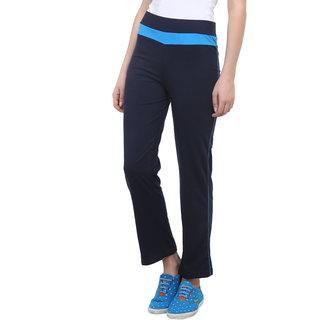 Vimal Navy Blue Cotton Blend Trackpant For Women (F2NAVY01)