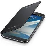 SAMSUNG GALAXY NOTE II N7100 AAA QUALITY FLIP CASE COVER+SCREENGUARD GREY