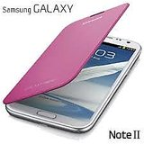 SAMSUNG GALAXY NOTE II N7100 AAA QUALITY FLIP CASE COVER+SCREENGUARD PINK