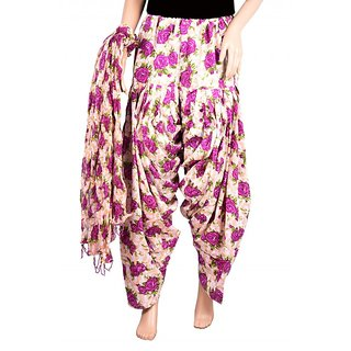 Decot Paradise Floral Multi color cotton patiyala with dupatta for Womens