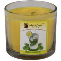 Artistique 4 Oz Clear Cup Citrus Cillantro Fragrance Candle