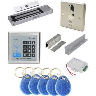 RFID PASSWORD BASED ACCESS Control WIth EMLOCK  EXIT PUSH BUTTON  POWER SUPPLY