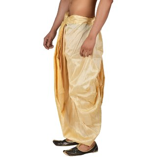 Pariwar Mens Beige Silk redymade Dhoti