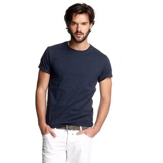 Born to Ride Mens Round Neck T Shirt NavyBlue