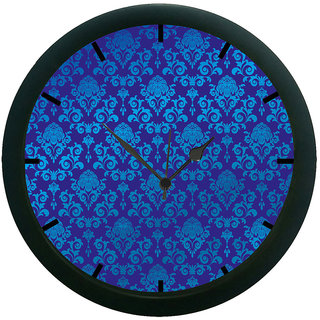 AE World Blue Ethnic Wall Clock (With Glass)