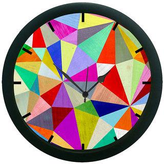AE World Geometric Wall Clock (With Glass)