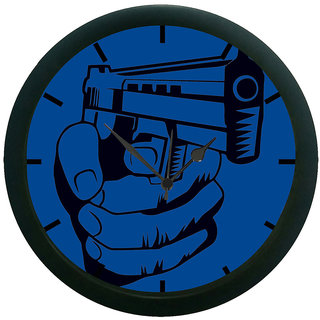 AE World Shoot Gun Wall Clock (With Glass)