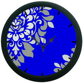 AE World Blue Wall Clock (With Glass)