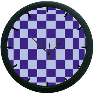 AE World Checks Wall Clock (With Glass)