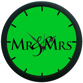 AE World Mr  Mrs Wall Clock (With Glass)