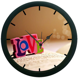 AE World love Wall Clock (With Glass)