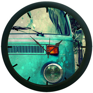 AE World Vintage Car 3D Wall Clock (With Glass)