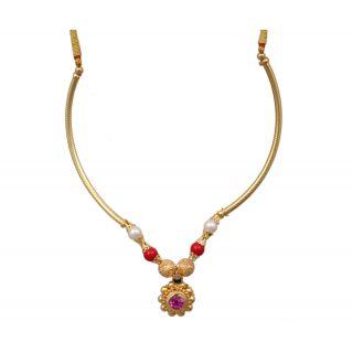 Sushito Designer Chand Pipe Thushi Necklace JSMJWNL0302