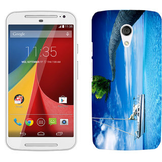 WOW Printed Back Cover Case for Moto G (2nd Gen)