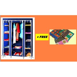 FREE 1 PIECE OF BEDSHEET 100 COTTON with FOLDING WARDROBE A-1 ALMIRAH