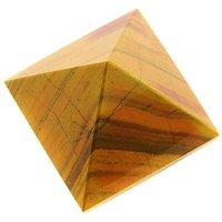 470 Cts Tiger Eye Gemstone Pyramid 45mm