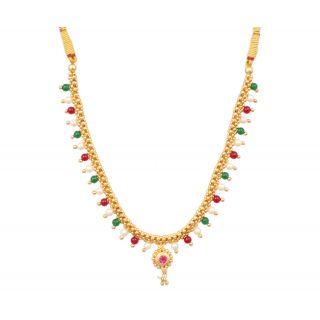 Sushito Designer Full Jhaler Multi Thushi Necklace JSMJWNL0265