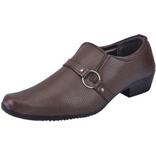 Fausto MenS Tan Formal Slip On Shoes (FST 1609 TAN)