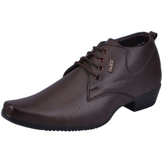 Fausto MenS Tan Formal Lace-Up Shoes (FST 1616 TAN)