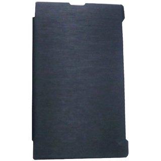 Black Premium Leather Flip Book Cover Case For Nokia X / Nokia RM-986
