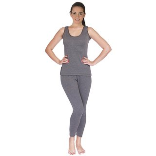 Selfcare Grey Women Thermal Set