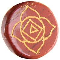 72.30 Ct Red Jasper Round Shape Gemstone Chakra