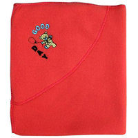 Garg Good Day Teddy Polar Fleece Hooded Red Baby Blanket