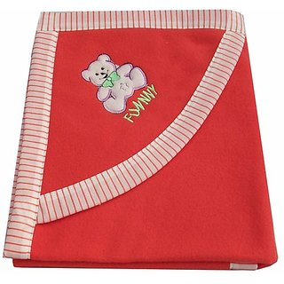 Garg Funny Teddy Hood Red Blanket