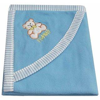 Garg Funny Teddy Hood Blue Blanket