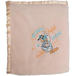 Garg Antipilling Peach Baby Blanket - Assorted Design