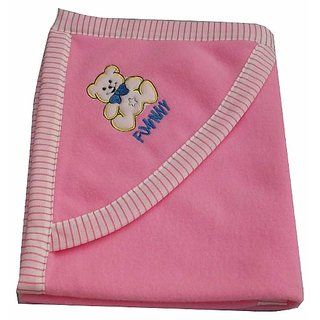 Garg Funny Teddy Hood Pink Blanket
